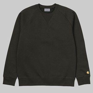 Bluza męska Carhartt WIP Chase I026383 CYPRESS/GOLD obraz
