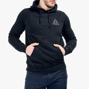 Bluza męska HUF Hooded Triple Triangle PF00100 BLACK obraz