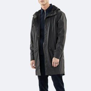 Kurtka Rains Long Jacket 1202 BLACK obraz