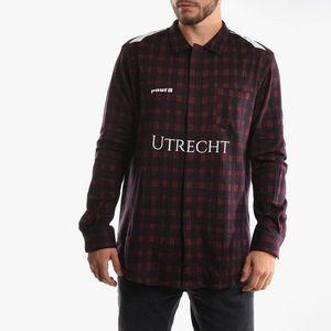 Koszula męska Utility Diadora x Paura Flanell Shirt 9 502.176344 Black/True Red obraz