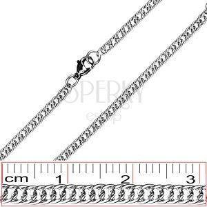 Stalowy łańcuszek - proste, gęsto połączone ogniwa obraz