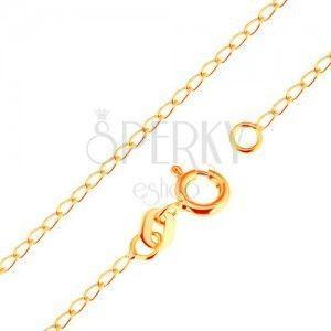 Łańcuszek z żółtego 18K złota - lśniące płaskie owalne ogniwa, 500 mm obraz