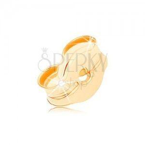 Zapasowa zatyczka, sztyft do kolczyka z żółtego 14K złota obraz
