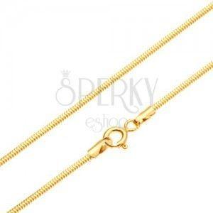 Złoty łańcuszek 585 - ogniwa ułożone we wzór skóry węża, 500 mm obraz