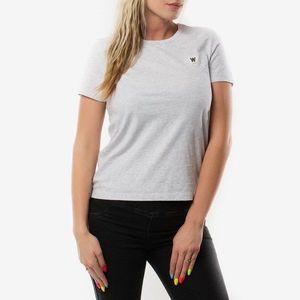 Koszulka damska Wood Wood Double A Uma T-Shirt 10212500-2222 LIGHT GREY MELANGE obraz
