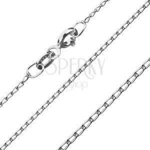 Łańcuszek ze srebra 925 - gładkie podłużne ogniwa, 1 mm obraz