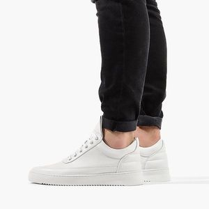 Buty męskie sneakersy Filling Pieces Low Top Ripple Lane Nappa All White 25121721855PMZ obraz