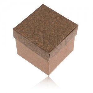 Matowe pudełeczko na pierścionek, kolczyki i wisiorek w brązowym odcieniu obraz