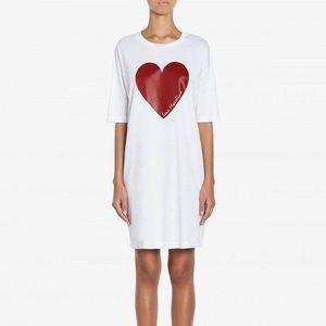Love Moschino Sukienka Biały obraz
