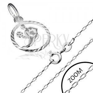 Naszyjnik ze srebra 925 - łańcuszek i znak Zodiaku Panna obraz