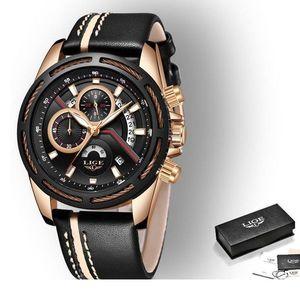 Zegarek LIGE Wheels - Czarny obraz