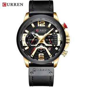 Zegarek Luxury CURREN - Czarny/Złoty obraz