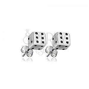 Sztyfty ze srebra 925 - biało-czarna kosta do gry obraz