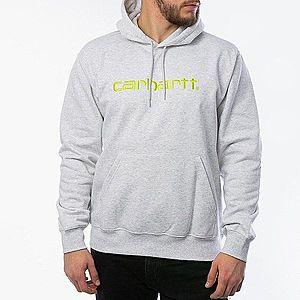 Bluza męska Carhartt WIP Hooded Sweatshirt I027093 ASH HEATHER/LIME obraz