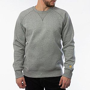 Bluza męska Carhartt WIP Chase Sweatshirt I026383 GREY HEATHER/GOLD obraz