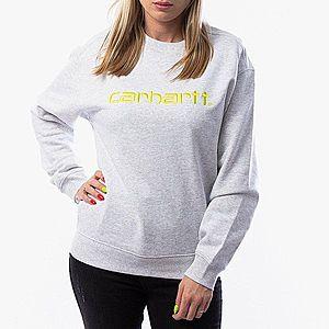 Bluza damska Carhartt WIP W' Sweatshirt I027475 ASH HEATHER/LIME obraz