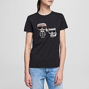 Koszulka damska Karl Lagerfeld Ikonik Rhinestone T-Shirt 201W1770 999 obraz