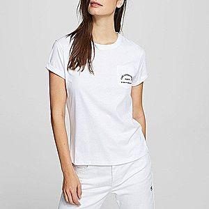 Koszulka damska Karl Lagerfeld Address Pocket Tee 201W1703 100 obraz
