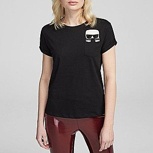 Koszulka damska Karl Lagerfeld Ikonik Karl Pocket T-Shirt 201W1712 999 obraz