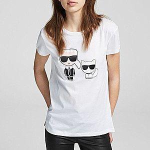 Koszulka damska Karl Lagerfeld Ikonik Karl & Choupette Tee 201W1705 100 obraz