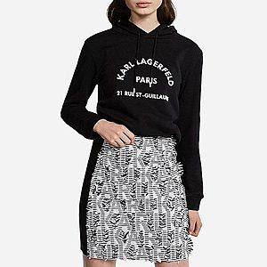 Bluza damska Karl Lagerfeld Address Logo Hoodie 201W1861 999 obraz