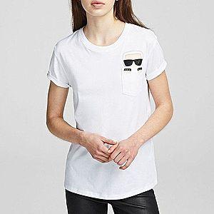 Koszulka damska Karl Lagerfeld Ikonik Karl Pocket T-Shirt 201W1712 100 obraz