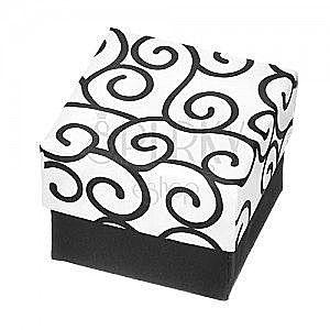Ozdobne pudełeczko na biżuterię - czarno-białe ornamenty obraz