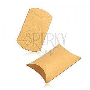 Upominkowe pudełko z papieru, gładka powierzchnia, lśniący złoty odcień obraz