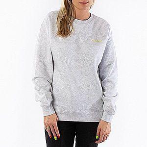 Bluza damska Carhartt WIP W' Script Embroidery Sweat I027477 ASH HEATHER/LIME obraz