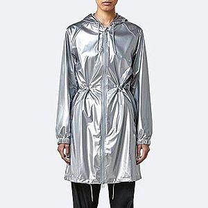 Płaszcz damski Rains Long Jacket 1278 SILVER obraz