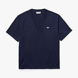 Koszulka damska Lacoste V-Neck T-shirt TF5458-166 obraz