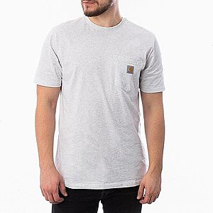 Koszulka męska Carhartt WIP S/S Pocket T-Shirt I022091 ASH HEATHER obraz