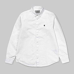 Koszula męska Carhartt WIP Madison Shirt I023339 WHITE/DARK NAVY obraz
