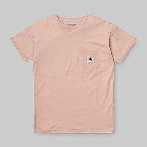 Koszulka damska Carhartt WIP W' Carrie Pocket T-Shirt I021890 POWDERY/ASH HEATHER obraz