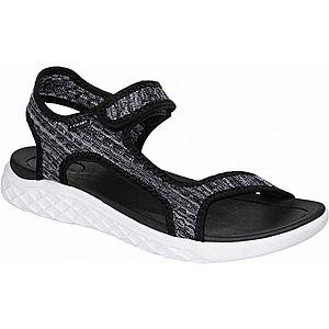 Czarne sandały damskie obraz