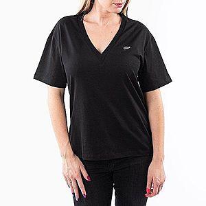Koszulka damska Lacoste V-Neck T-shirt TF5458-031 obraz