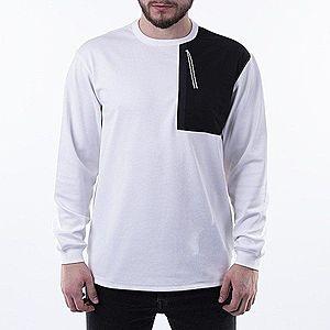 Koszulka męska Maharishi Tech Pocket Longsleeve 8505 WHITE/BLACK BAMBOO obraz