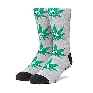 Skarpetki HUF Green Buddy SK00446 GREY HEATHER obraz
