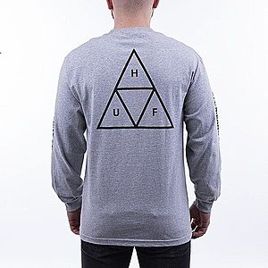 Koszulka męska HUF Triple Triangle Long Sleeve T-shirt TS00506 GREY HEATHER obraz
