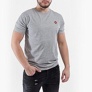Koszulka męska Wood Wood Ace Double A 10005700-2222 Grey Melange obraz