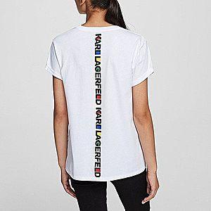 Koszulka damska Karl Lagerfeld Bauhaus Logo Pocket Tee 201W1730 100 obraz