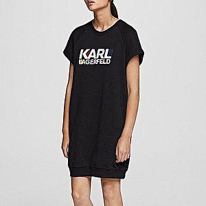 Sukienka Karl Lagerfeld Bauhaus Logo Sweat Dress 201W1817 999 obraz
