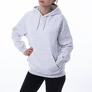 Bluza damska Carhartt WIP W' Hooded Chase Sweatshirt I027481 ASH HEATHER/GOLD obraz
