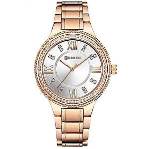 Zegarek CURREN Crystal - Różowy/Biały obraz