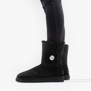 Buty damskie UGG Bailey Button Bling 1016553 BLK obraz