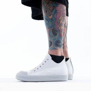 Buty męskie sneakersy Rick Owens DRKSHDW Low Sneaks DU20S5802 MUEH4 CHALK WHITE obraz