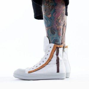 Buty męskie sneakersy Rick Owens DRKSHDW Sneaks DU20S5800 MUND CHALK WHITE AS SAMPLE obraz