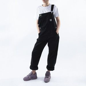 Spodnie damskie Carhartt WIP Bib Overall Straight I027998 BLACK obraz