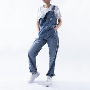 Spodnie damskie Carhartt W' Bib Overall Straight I026025 BLUE LIGHT STONE WASHED obraz