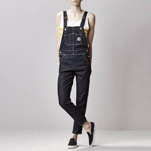 Spodnie damskie Carhartt W' Bib Overall Straight I019327 BLUE RINSED obraz